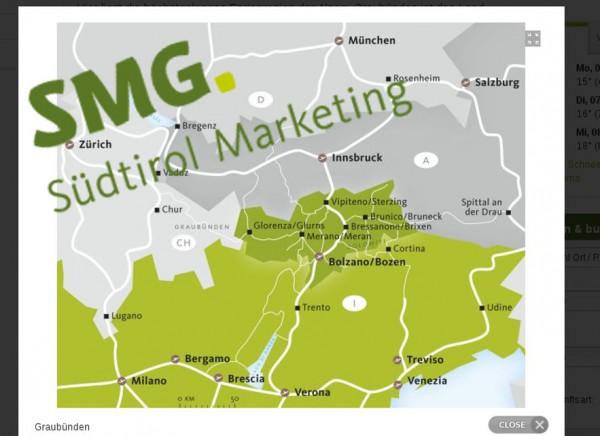 Mangelnde Geographiekenntnisse. Screenshot: http://www.suedtirol.info/Wissenswertes/Suedtirols-Nachbarn.html