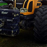Traktor stürzt ab