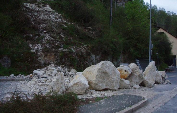 Steinschlag im ganzen Land