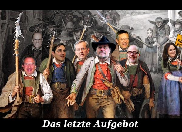 Das letzte Aufgebot. Fotomontage: UT24. Bild: Franz Defregger