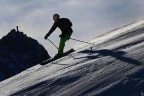 Freizeit, Wetter, Ski, Skifahren, blauer, Himmel