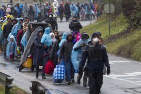 Flüchtlinge, Migration, Refugees, Regen, Syrien, Winter