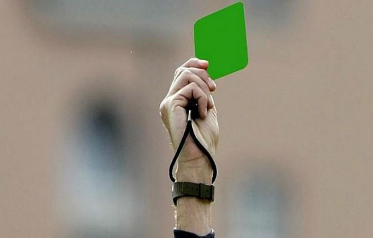 fußball grüne karte