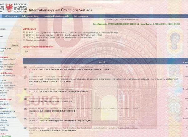 """Das Portal oder offiziell """"Informationssystem Öffentliche Verträge""""."""