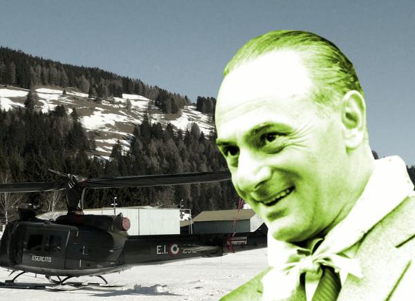 Enrico Mattei und das Flugfeld Toblach. Bild: Llorenzi CC BY-SA 3.0 / Public Domain.