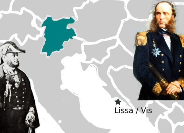 Admiral Persano und Tegetthoff. Die Seeschlacht bei Lissa.