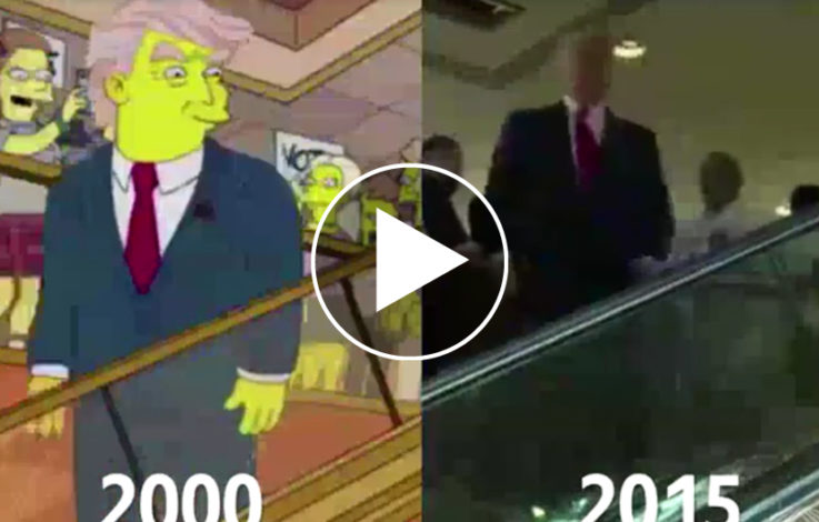 Trump Simpsons Rolltreppe