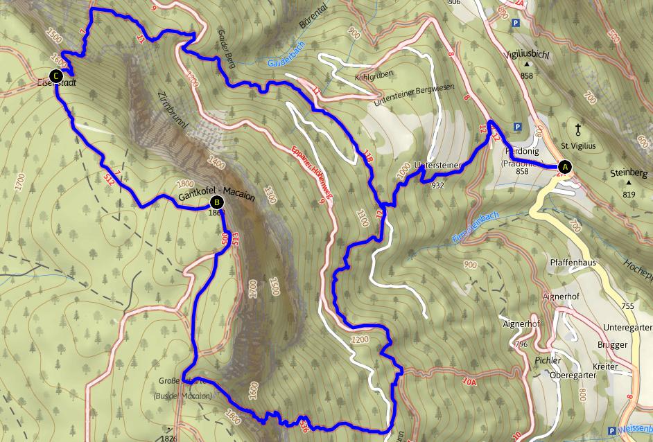 Karte-Gantkofel