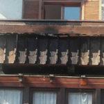 Burggrafenamt: Balkon fängt Feuer