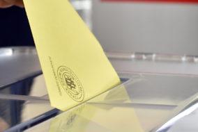 Flagge, Wahlen, Türkei, Präsidentenwahl, Wähler, Präsi, Präsident