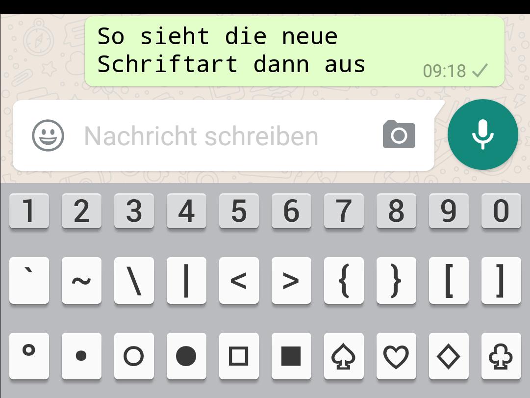 Whatsapp Schrift Umdrehen