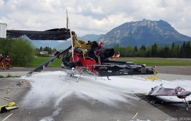Hubschrauber stürzte in Tirol ab: Pilot unverletzt