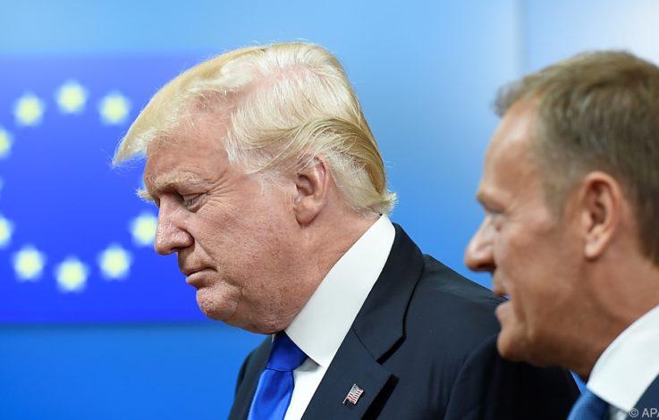 EU und Trump bleiben teilweise auf Konfliktkurs