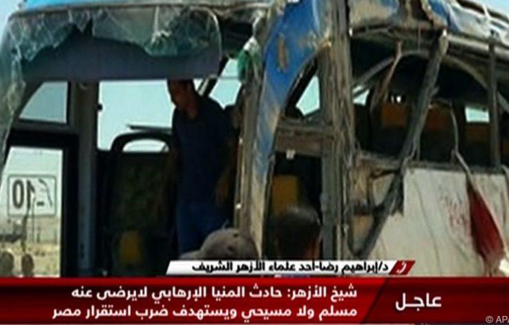 28 Tote bei Angriff auf Bus mit Christen in Ägypten
