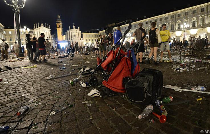 Panik-Szenen beim Public Viewing in Turin - Verletzte