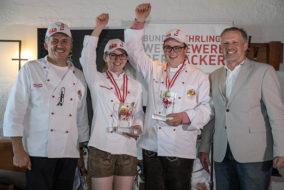 Bundeslehrlingswettbewerb der Bäcker - Platz 1 und 2