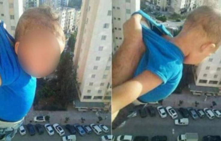 Mann hält Kind aus Fenster und fordert 1000 Likes
