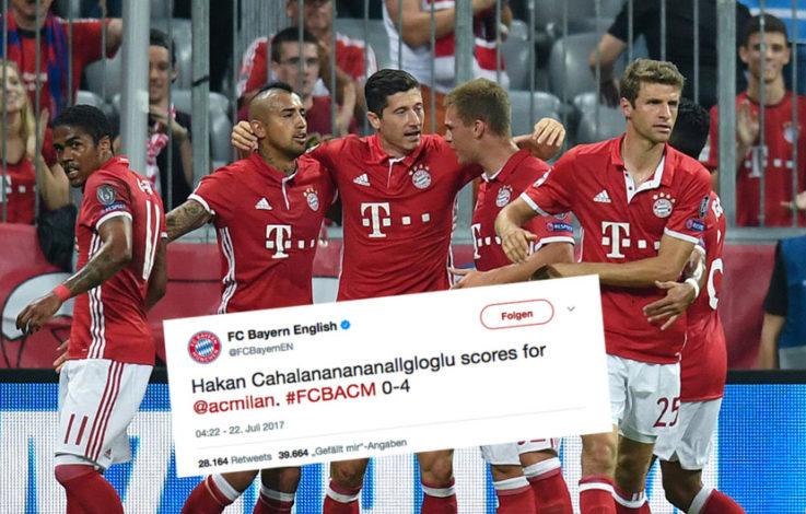 FC Bayern entschuldigt sich für peinlichen Tweet