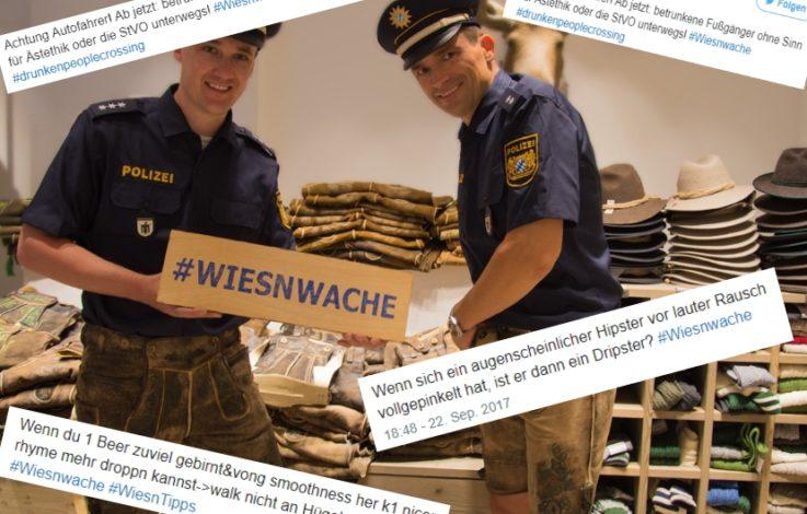 """""""Pack deinen mickrigen Lörres ein!"""" Lustig scherzende Wiesn-Polizei"""