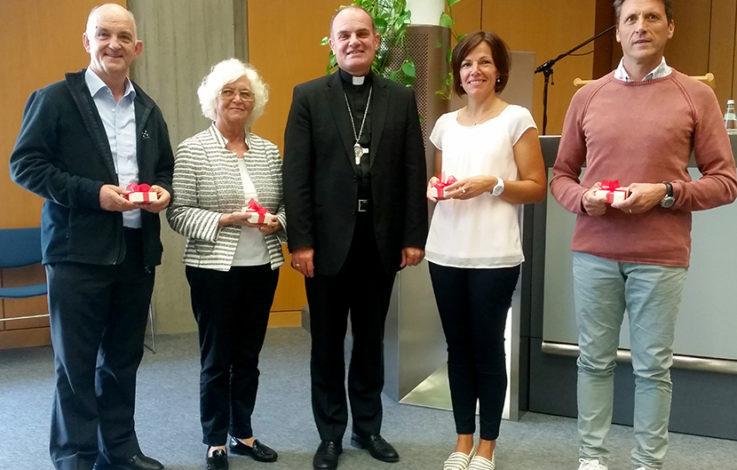 Diözese ehrt vier Mitarbeiter