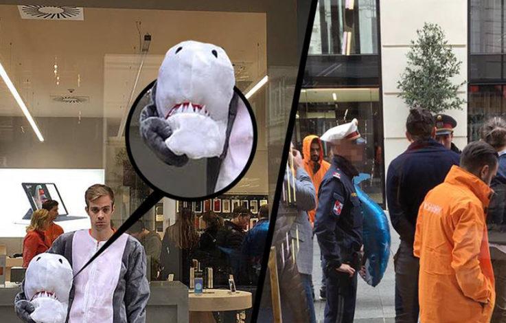Burkaverbot: Anzeige für Mann im Hai-Kostüm