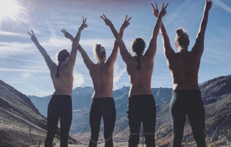 Sportlerinnen lassen in Südtirol die Hüllen fallen