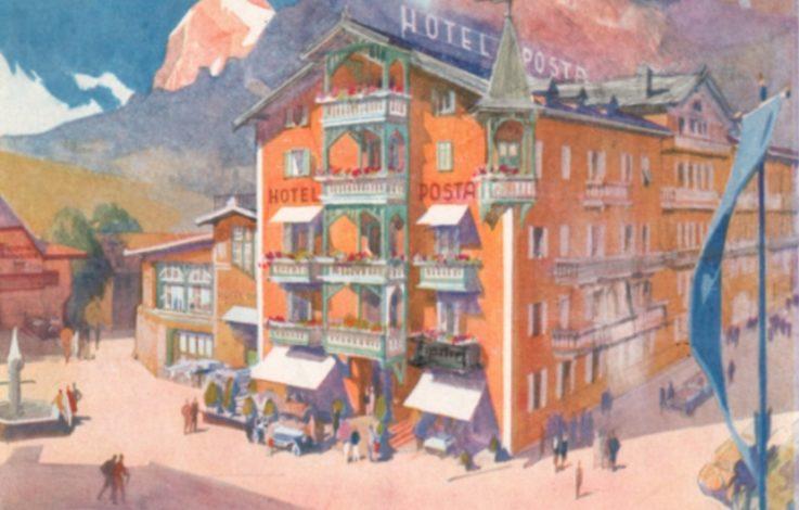 Versuchte Rettung des Hotel Post in Toblach