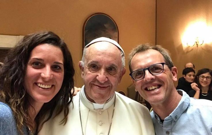 Tamara Lunger trifft Papst Franziskus