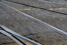 Gleise, Schienen, Strassenbahn, Weiche, Bahngleis