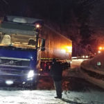 Lkw blockieren Pustertaler Straße