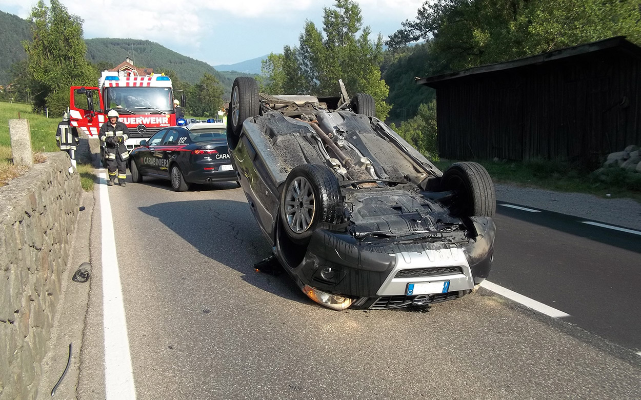UnserTirol24 - Autounfall bei Kiens