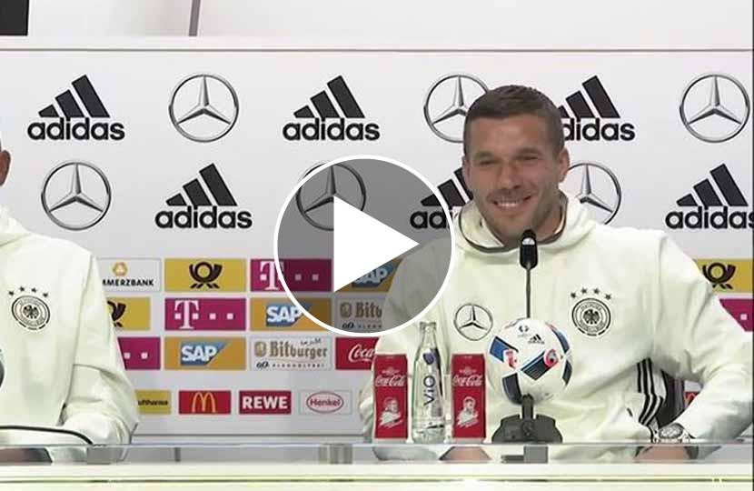 Lukas Podolski Eier Kraulen