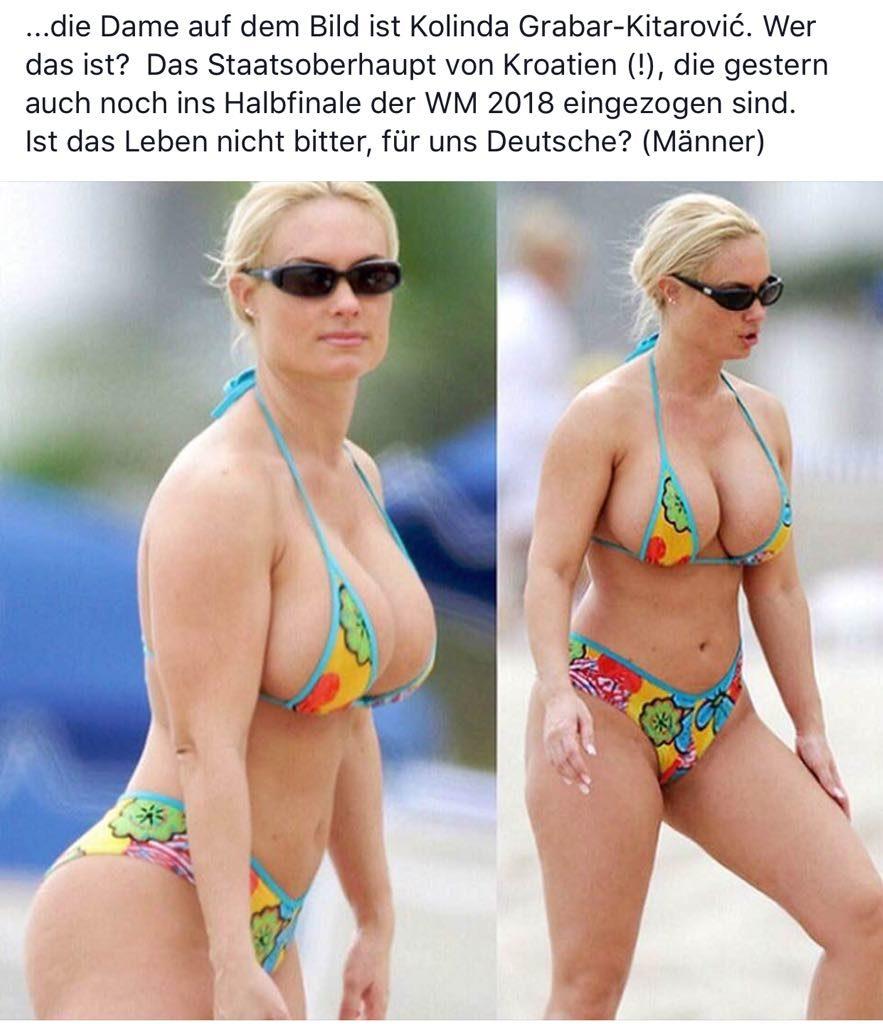 Kroatische Präsidentin Im Bikini
