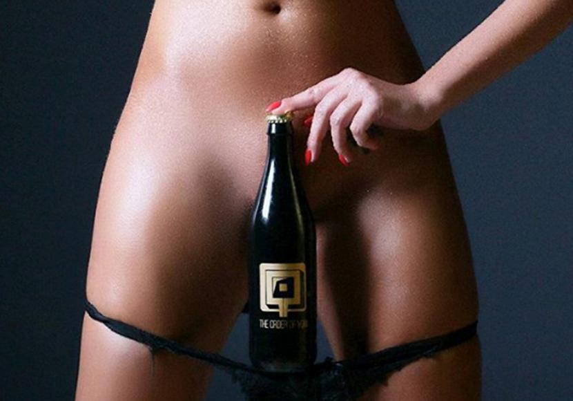 flasche in der vagina