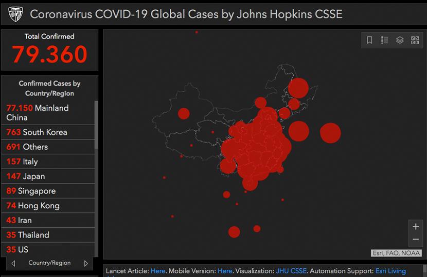 Corona Fälle Weltweit Karte Live